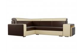Угловой диван Мустанг с двумя пуфами Левый