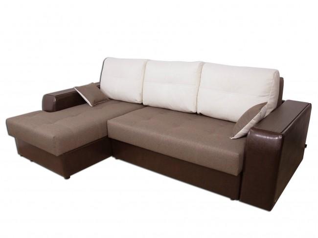 Угловой диван Эдинбург с оттоманкой левый