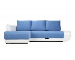 Угловой диван с независимым пружинным блоком ПолоLUXНПБ (Нью-Йорк) Левый фото
