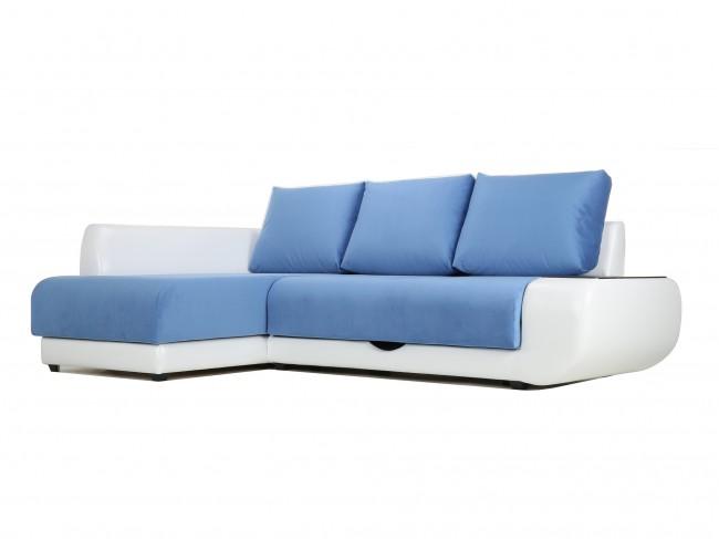Угловой диван с независимым пружинным блоком Поло ПБ (Нью-Йорк) Левый
