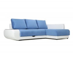 Угловой диван с независимым пружинным блоком Поло ПБ (Нью-Йорк) Правый фото