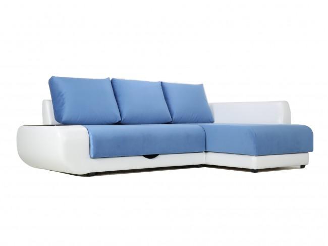 Угловой диван с независимым пружинным блоком Поло ПБ (Нью-Йорк) Правый