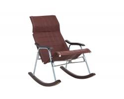 """Кресло-качалка складная """"Белтех"""", к/з коричневый фото"""