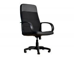 Офисное кресло Office Lab standart-1581 Эко кожа черный / ткань черная фото