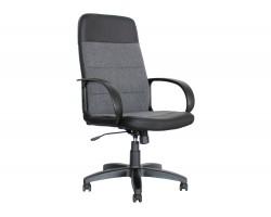 Офисное кресло Office Lab standart-1581 Эко кожа черный / ткань серая фото
